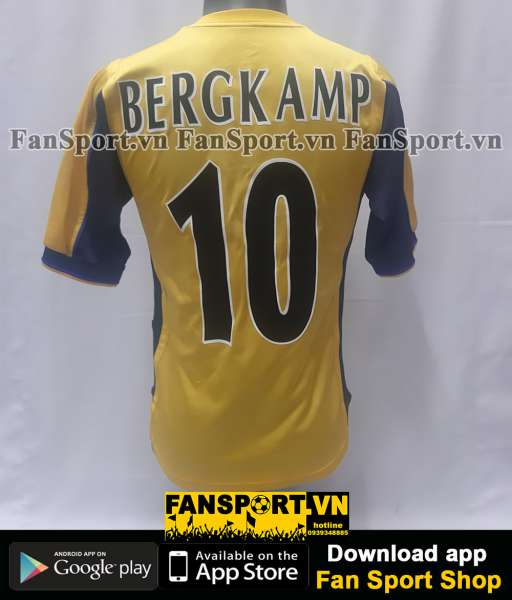 Áo Bergkamp 10 Arsenal UEFA Cup final 2000 away shirt jersey 1999
