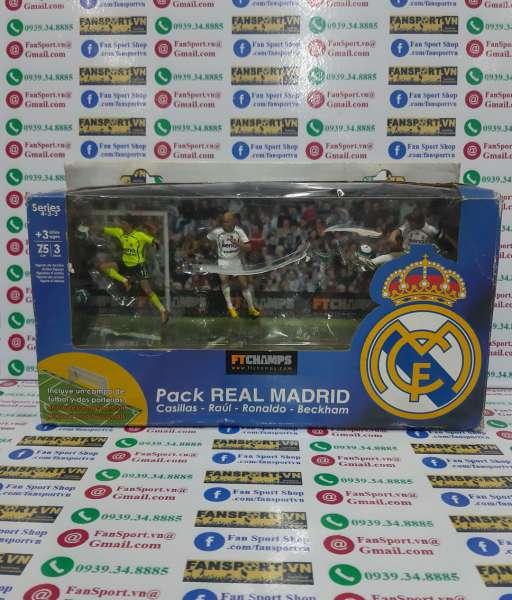 Set tượng Casillas Raul Ronaldo Real Madrid 2006-2007 home FT Champs