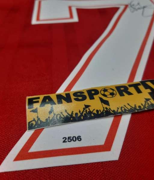 Box áo Dalglish 7 signed Liverpool 1985 1986 home double winner shirt