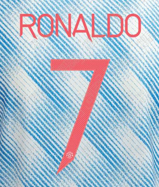 Nameset Ronaldo 7 Manchester United 2021 2022 away white cup OFFICIAL