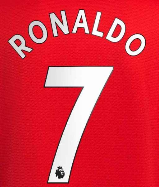 Nameset Ronaldo 7 Manchester United 2021 2022 white Premier League
