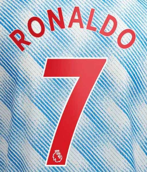 Nameset Ronaldo 7 Manchester United 2021 2022 red Premier League