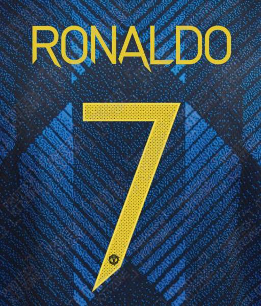 Nameset Ronaldo 7 Manchester United 2021 2022 third white cup OFFICIAL