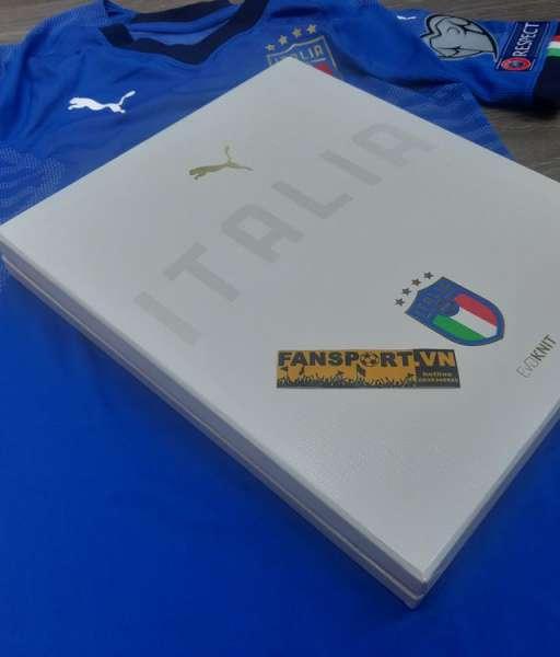 Box áo đấu Italy 2017-2020 home authentic shirt jersey blue Limited M