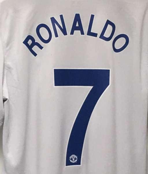 Nameset Ronaldo 7 Manchester United 2008 2009 Champion League away