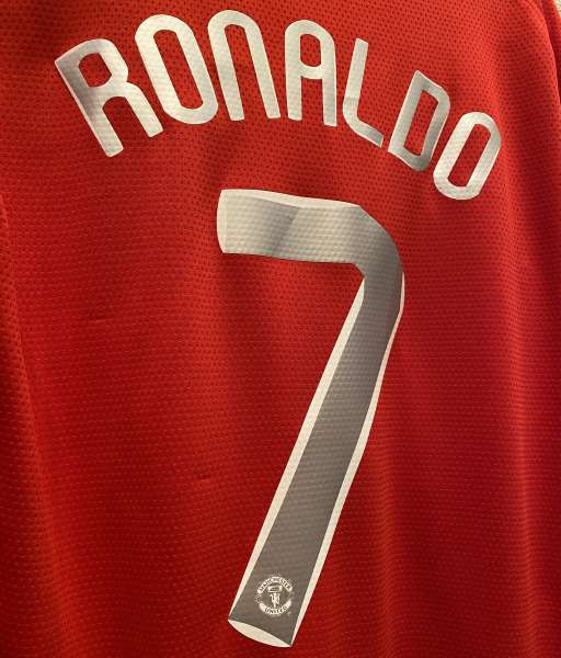 Nameset Ronaldo 7 Manchester United 2007 2008 Champion League