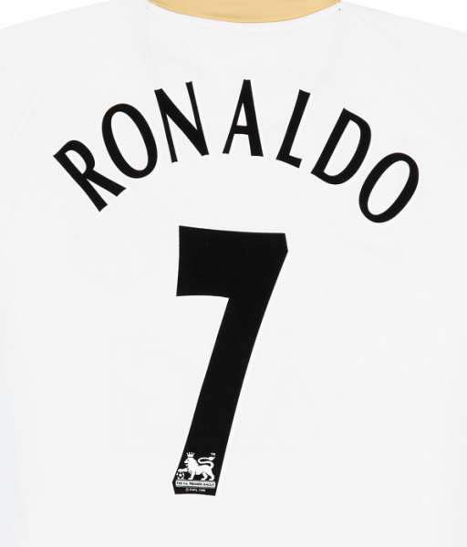 Nameset Ronaldo 7 Manchester United Premier League 2003 2007 black