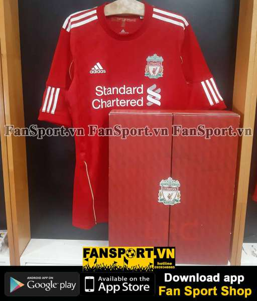 Box áo Liverpool 2010 2012 Adidas Techfit home authentic shirt BNWT L