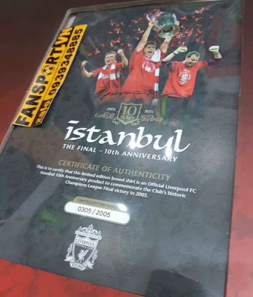 Box áo Liverpool Istanbul 2005 home10 year retro official shirt jersey