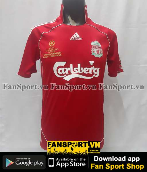 Áo Liverpool Champion League final 2007 home shirt jersey 2006 2008
