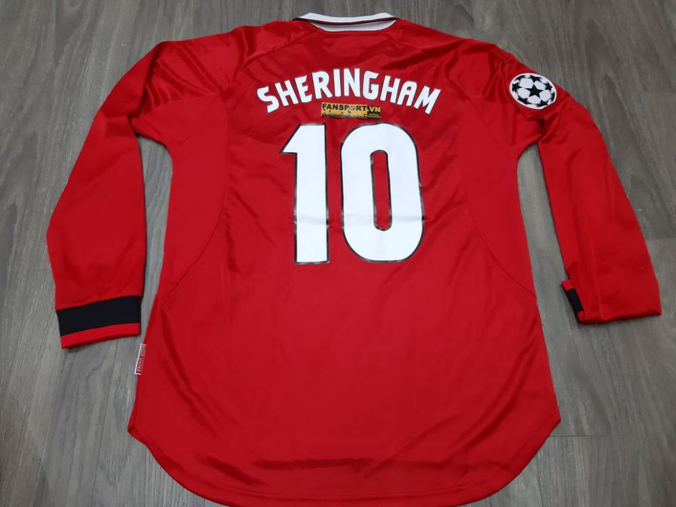 Áo Manchester United Champion League Final 1999 home jersey 1997-1998