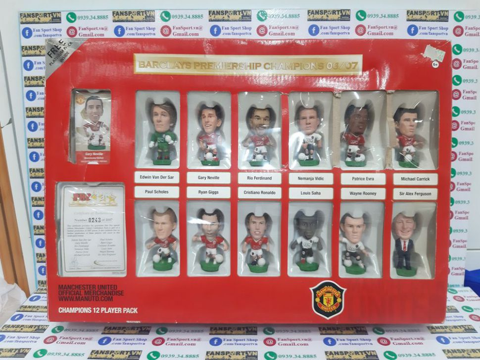 Box Manchester United 2006-2007 Premiership Champions corinthian 0243