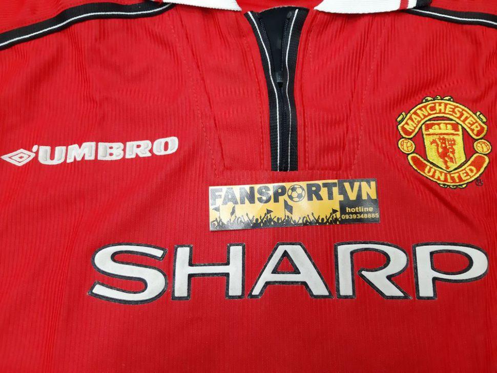 Áo đấu Manchester United 1998-1999-2000 home shirt jersey long slevess