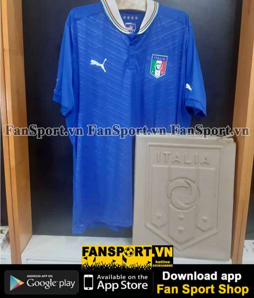 Box áo Italy 2011 2012 2013 home authentic shirt jersey Puma blue pack