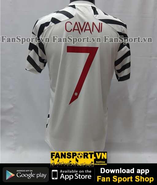 Áo Cavani 7 Manchester United 2020 2021 third shirt jersey white BNWT
