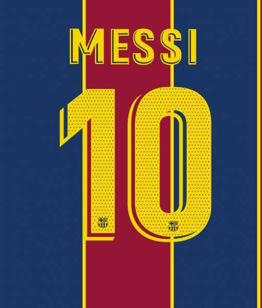 Font Messi 10 Barcelona 2018 2019 2020 2021 nameset official player