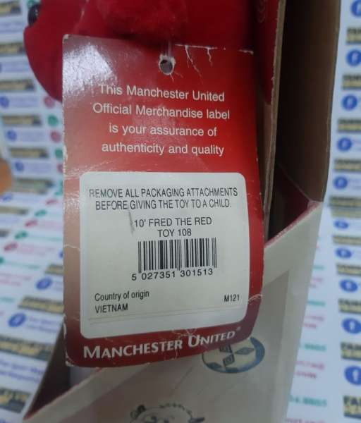 Fred the Red mastcos Manchester United red Vodafone new box 25cm