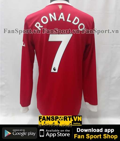Áo đấu Ronaldo 7 Manchester United 2021 2022 home shirt long jersey
