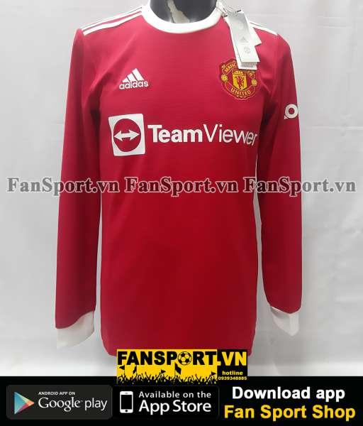 Áo đấu Manchester United 2021 2022 home shirt long jersey S red GR3779