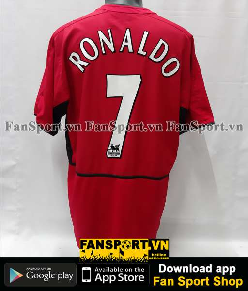 Áo đấu Ronaldo 7 Manchester United 2003 2004 home shirt jersey red