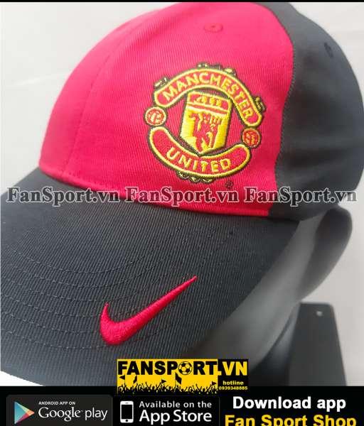 Nón Manchester United 2005-2006 black red cap hat original Nike BNWT
