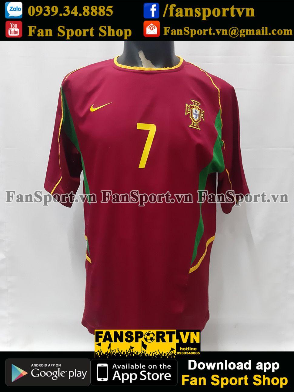 Áo đấu Ronaldo 7 Portugal 2002 2003 2004 home shirt jersey U21