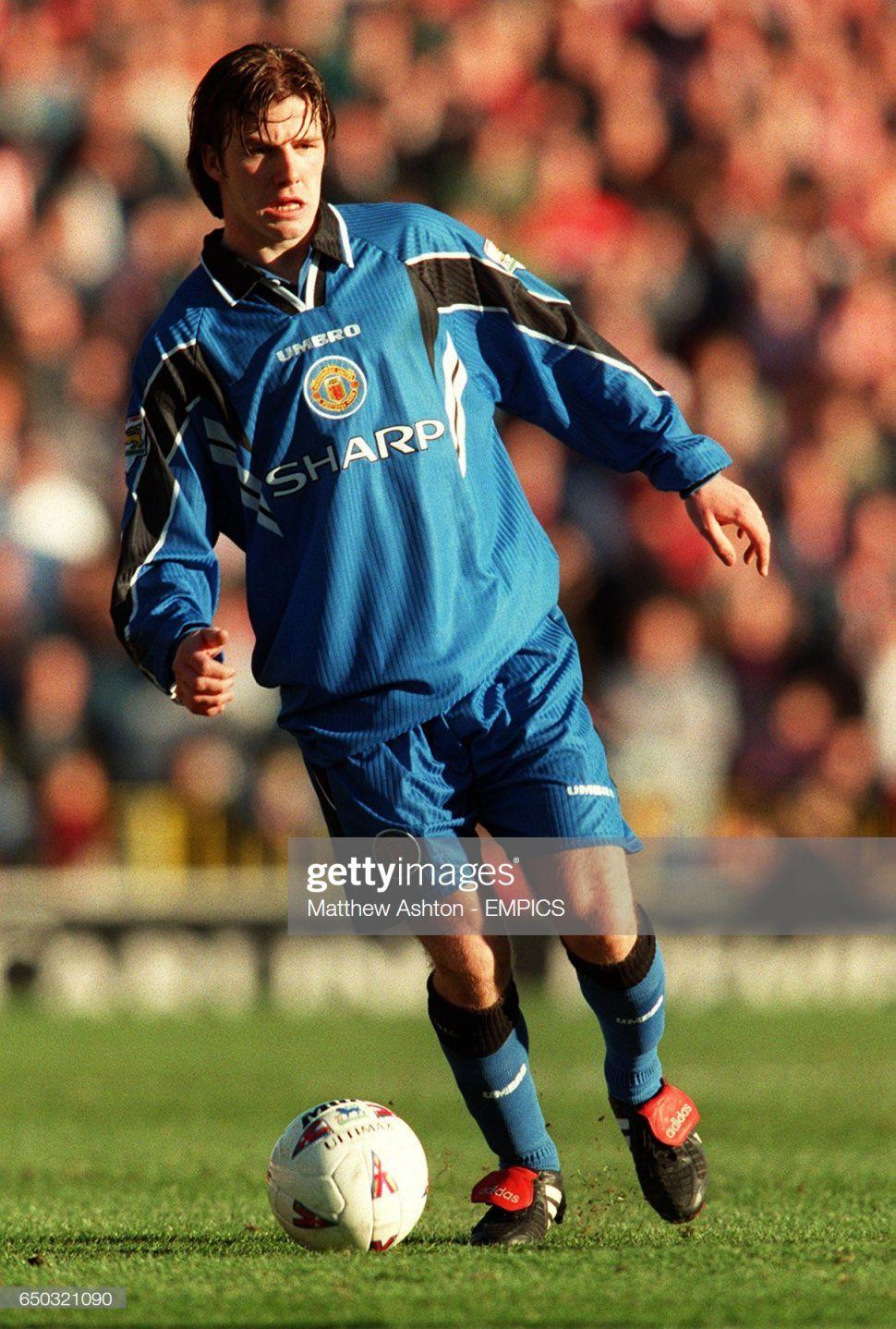 Áo đấu Beckham #10 Manchester United 1996-1998 third shirt jersey blue