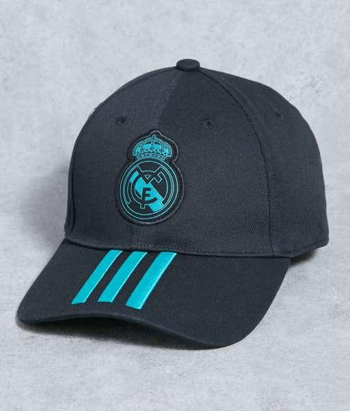 Nón Real Madrid 2017 2018 away black cap Adidas BR771 BNWT 54cm hat